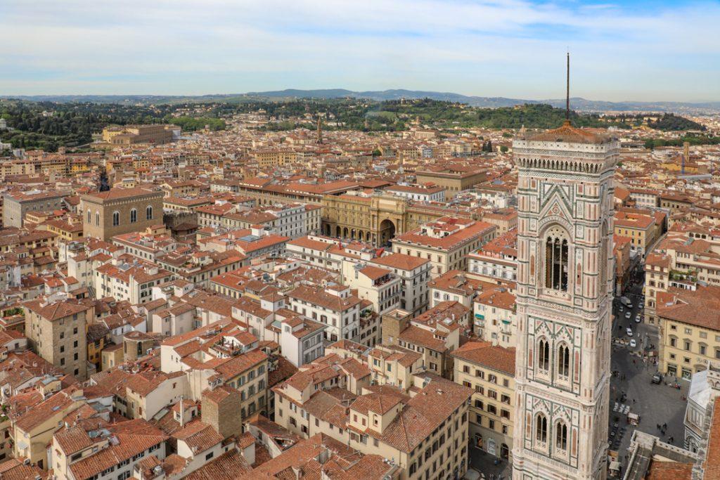 uitzicht vanaf de koepel van de Duomo